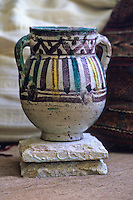 Ceramics, Nabeul, Tunisia.  Qallaline Pot, early 20th. Century.