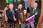 The 15th Battalion FCA/PDF and 32nd RDF Remembrance Group will be holding a reunion on Saturday April 30th in Listowel. Pictured were: Jim Halpin, Patsy Curtin, John Wade and Aisling Griffin.