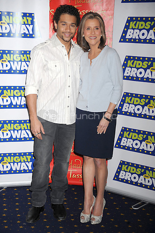 Corbin Bleu and Meredith Vieira attend the 14th Annual Kids Night On Broadway Fan Festival at Madame Tussauds in New York City. February 2, 2010. Credit: Dennis Van Tine/MediaPunch