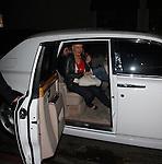 .AbilityFilms@yahoo.com  805-427-3519.www.AbilityFilms.com.3-29-08  ..Jordan Bratman  leaving the night club Villa in Hollywood with his wife .Christina Aguilera
