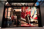 Emporio Armani 02 - Emporio Armani shopfront in Wesley Arcade, Perth, Western Australia