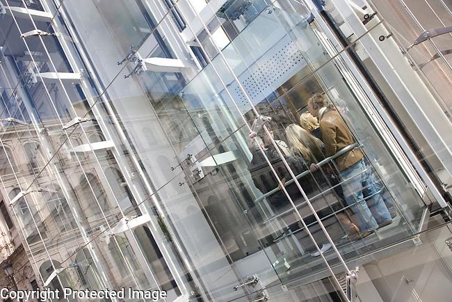 Lift at Reina Sofia Modern Art Museum, Madrid, Spain