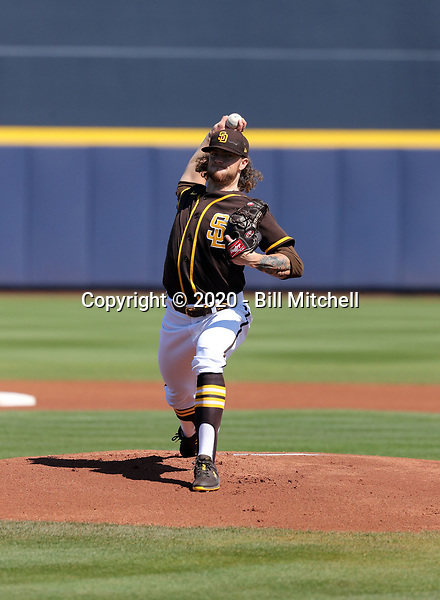 Chris Paddack - San Diego Padres 2020 spring training (Bill Mitchell)