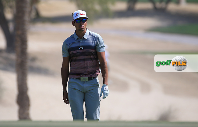 2012 Champion Rafa Cabrera-Bello (ESP) starts well with a 67 during Round One of the 2016 Omega Dubai Desert Classic, played on the Emirates Golf Club, Dubai, United Arab Emirates.  04/02/2016. Picture: Golffile | David Lloyd<br /> <br /> All photos usage must carry mandatory copyright credit (&copy; Golffile | David Lloyd)