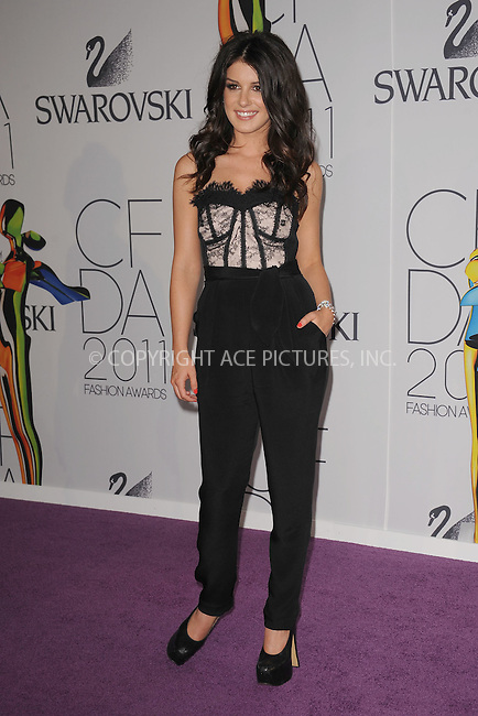WWW.ACEPIXS.COM . . . . . .June 6, 2011...New York City.....Shenae Grimes attends the 2011 CFDA Fashion Awards at Alice Tully Hall, Lincoln Center on June 6, 2011 in New York City......Please byline: KRISTIN CALLAHAN - ACEPIXS.COM.. . . . . . ..Ace Pictures, Inc: ..tel: (212) 243 8787 or (646) 769 0430..e-mail: info@acepixs.com..web: http://www.acepixs.com .