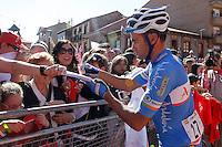 Javier Ramirez before the stage of La Vuelta 2012 between La Robla and Lagos de Covadonga.September 2,2012. (ALTERPHOTOS/Acero) /NortePhoto.com<br /> <br /> **CREDITO*OBLIGATORIO** <br /> *No*Venta*A*Terceros*<br /> *No*Sale*So*third*<br /> *** No*Se*Permite*Hacer*Archivo**<br /> *No*Sale*So*third*
