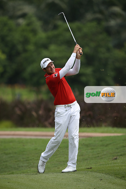 Julien Quesne (FRA) leaped into contention with a second 69 during Round Three of the 2014 Maybank Malaysian Open at the Kuala Lumpur Golf & Country Club, Kuala Lumpur, Malaysia. Picture:  David Lloyd / www.golffile.ie