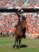 Virginia cavalier mascot during and NCAA football game at Scott Stadium in Charlottesville, VA. Clemson defeated Virginia 59-10. Photo/Andrew Shurtleff