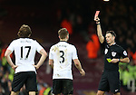 Manchester United's Luke Shaw gets sent off<br /> <br /> Barclays Premier League- West Ham United vs Manchester United  - Upton Park - England - 8th February 2015 - Picture David Klein/Sportimage