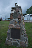 The historical cairn in Corunna, located on Baird and Hill Streets beside the railway tracks.