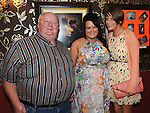 Julieanne McKeown celebrating her 21st birthday in Shearmans bar Dunleer with uncle Larry Hoey and cousin Ruth Hoey. Photo: Colin Bell/pressphotos.ie