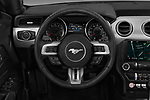Car pictures of steering wheel view of a 2019 Ford Mustang EcoBoost 2 Door Convertible