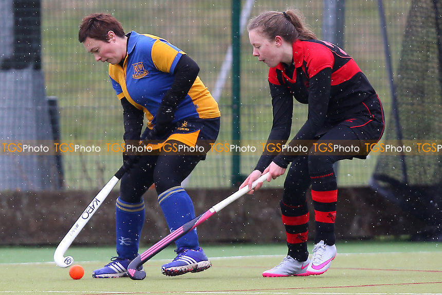 Upminster HC Ladies 4th XI vs Havering HC Ladies 4th XI, Essex Women's League Field Hockey at the Coopers Company and Coborn School, Upminster, England on 05/03/2016