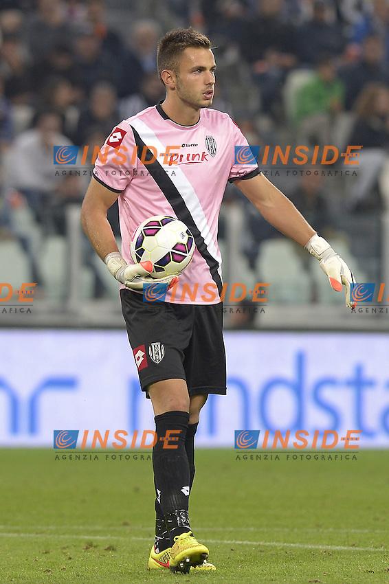 Nicola Leali Cesena,<br /> Torino 24-09-2014, Juventus Stadium, Football Calcio 2014/2015 Serie A, Juventus-Cesena, Foto Filippo Alfero/Insidefoto