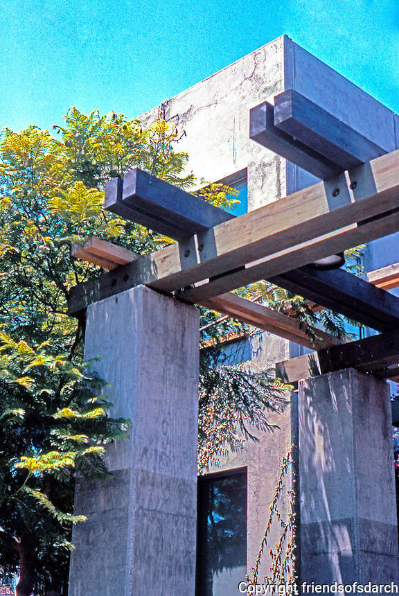 Rob W. Quigley: Sherman Heights Community Center. Detail--pergola. Photo '96.