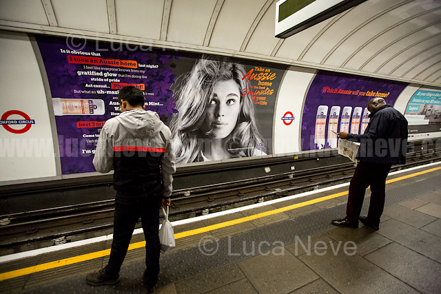 Oxford Circus tube station.<br />