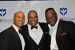 One Life To Live's Sean Ringgold (C) poses with Mike Woods (L) of Fox 5 Good Day New York Meteologist and Gregory Generat (husband of ATWT Tamara Tunie) on March 21, 2013 at the HeartShare 25th Annual Spring Gala and Auction at the New York Marriott, NYC, NY.  (Photo by Sue Coflin/Max Photos)