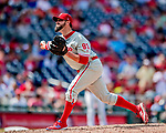 23 August 2018: Philadelphia Phillies pitcher Pat Neshek closes out the game against the Washington Nationals at Nationals Park in Washington, DC. The Phillies shut out the Nationals 2-0 to take the 3rd game of their 3-game mid-week divisional series. Mandatory Credit: Ed Wolfstein Photo *** RAW (NEF) Image File Available ***