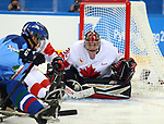 Pyeongchang, Korea, 11/3/2018- Corbin Watson of Canada plays Italy in hockey during the 2018 Paralympic Games in PyeongChang. Photo Scott Grant/Canadian Paralympic Committee.