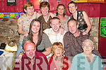50th: Partying with her friends and family in Tanker's Bar, Listowel, on Friday night was Kathleen Scanlon, Stokers Drive, Listowel. Pictured are Martin Scanlon, Kathleen Scanlon (birthday girl), Joan Lynch, Sinead Hynes, Tim Emmett, Liam Kennelly, Carmel Mulvhill, Mary Hynes, Leyla Mulvihill and Breda Lynch..