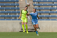 Bridgeview, IL - Sunday June 04, 2017: Nahomi Kawasumi, Danielle Colaprico during a regular season National Women's Soccer League (NWSL) match between the Chicago Red Stars and the Seattle Reign FC at Toyota Park. The Red Stars won 1-0.
