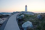 Walkway to lighthouse at Peggys Cove Nova Scotia