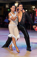 Yan Sorokin and Veronika Karimova of Russia perform their dance during the Amateur Rising Stars Latin competition of the Blackpool Dance Festival that is the most famous event among dance competiptions held in Empress Ballroom Wintergardens, Blackpool, United Kingdom. Thursday, 21. May 2009. ATTILA VOLGYI