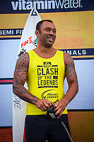 HONOLULU - (Friday, November 16, 2012) Sunny Garcia (HAW). -- Pumping Haleiwa delivered the goods at the REEF Hawaiian Pro today with incredible tube rides, aerials and pure power surfing. For the world's top professionals and the surf-stoked fans who flock to the North Shore, this is what the Vans Triple Crown of Surfing is known for: quality surfing in quality waves...Between the high-scoring heat of Australian Tom Whitaker, the mind-altering manoeuvres of Ventura's Dane Reynolds, the tube-riding finesse of Torrey Meister, and the iconic Clash of the Legends between Sunny Garcia (HAW) Mark Occhilupo (AUS), Tom Curren (USA) and Kiapo Jaquais (HAW) everyone went home fired up. Photo: joliphotos.com