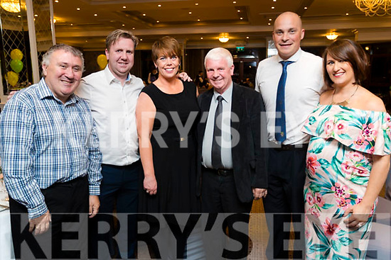 Denis Guerin, Kevin O'Regan, Maria O'Regan, John O'Regan with Derek O'Shea and Alice O'Shea, pictured at the 40th Anniversary meal of the Kerry Branch of the Irish Referee Society at The Rose Hotel, Tralee on Saturday evening last.