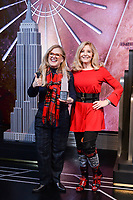 """New York - DECEMBER 17: Nancy Cartwright, and Pamela Hayden, participate in the ceremonial lighting of the Empire State Building as they attend the Empire State Building Celebration of the 30th Anniversary of FOX's """"The Simpsons"""" on December 17, 2018 in New York City.  (Photo by Anthony Behar/FOX/PictureGroup)"""