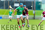Liam Boyle Ballyduff in action against Jason Leahy Causeway in the Hurling County Championship in Austin Stack Park on Sunday.