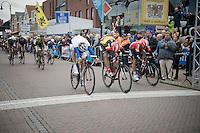 extremely close (foto)finish with Jens Debusschere (BEL/Lotto-Belisol) winning over Tom Van Asbroeck (BEL/Topsport Vlaanderen-Baloise)<br /> <br /> Sluitingsprijs Putte-Kapellen 2014
