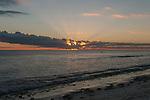 Sunset on the remote island of Kiritimati in Kiribati