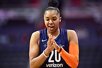 Washington, DC - June 3, 2018: Connecticut Sun guard Alex Bentley (20) celebrates a free throw during game between the Washington Mystics and Connecticut Sun at the Capital One Arena in Washington, DC. (Photo by Phil Peters/Media Images International)