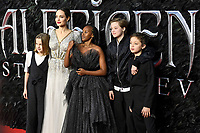 LONDON, ENGLAND - October 09: Vivienne Jolie-Pitt, Angelina Jolie, Zahara Jolie-Pitt, Shiloh Jolie-Pitt and Knox Leon Jolie-Pitt attending the European Premiere of 'Maleficent: Mistress of Evil' at BFI IMAX Waterloo on October 09, 2019 in London, England.<br /> CAP/MAR<br /> ©MAR/Capital Pictures /MediaPunch ***NORTH AMERICA ONLY***