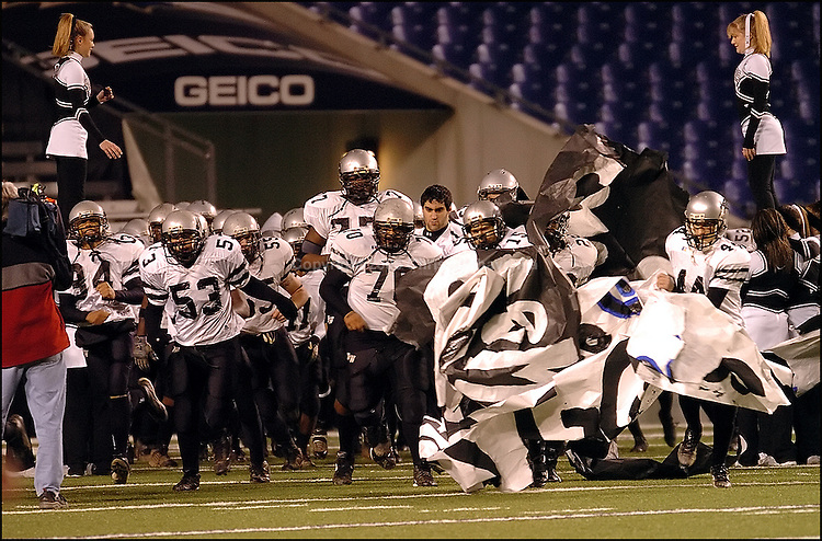 Maryland High School 3A state championship at Ravens Stadium on December 3, 2004, between Northwest Jaguars (13-1) vs Lackey Chargers (13-1). The final score Jaguars 14 - Chargers 9.