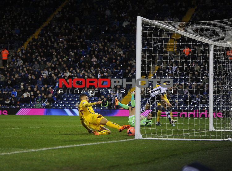 Crystal Palace's Dwight Gayle scores but goal gets disallowed. -  04/01/2014 - SPORT - FOOTBALL - West Bromwich - The Hawthorns - West Brom v Crystal Palace - FA Cup - Third Round<br /> Foto nph / Meredith<br /> <br /> ***** OUT OF UK *****
