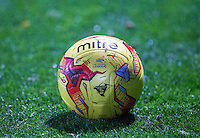 Match ball during the The Checkatrade Trophy Southern Group D match between Wycombe Wanderers and Coventry City at Adams Park, High Wycombe, England on 9 November 2016. Photo by Andy Rowland.