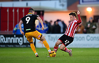 Lincoln City's Shay McCartan vies for possession with Newport County's Padraig Amond<br /> <br /> Photographer Chris Vaughan/CameraSport<br /> <br /> The EFL Sky Bet League Two - Lincoln City v Newport County - Saturday 22nd December 201 - Sincil Bank - Lincoln<br /> <br /> World Copyright © 2018 CameraSport. All rights reserved. 43 Linden Ave. Countesthorpe. Leicester. England. LE8 5PG - Tel: +44 (0) 116 277 4147 - admin@camerasport.com - www.camerasport.com
