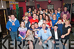 Hayden Fitzgerald, O'Regan Place, Tralee (seated centre) had a cracker celebrating his 21st birthday last Saturday night in the Slievemish bar, Tralee with many friends and family.