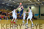Justin Tauson Scotts Lakers drives to the basket against Neptune in Killarney on Saturday night
