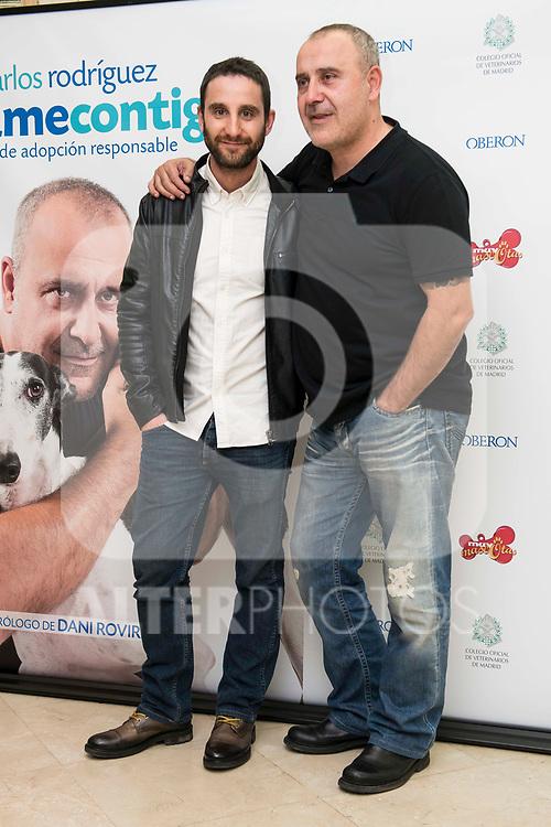 "Dani Rovira and Carlos Rodriguez during the presentation of the book ""Llevame contigo"" of Carlos Rodriguez in Madrid, Spain. March 15, 2017. (ALTERPHOTOS/BorjaB.Hojas)"