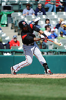 Richmond Flying Squirrels outfielder Javier Herrera (10) during game against the Trenton Thunder at ARM & HAMMER Park on April 14 2013 in Trenton, NJ.  Trenton defeated Richmond 15-1.  (Tomasso DeRosa/Four Seam Images)