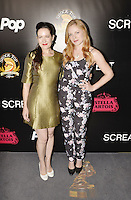 HOLLYWOOD,CA - OCTOBER 18: Bel Delia and Emma Bell attend the TRASH FIRE / Screamfest red carpet at TCL Chinese Theater in Hollywood, California on October 18, 2016. Credit: Koi Sojer/Snap'N U Photos /MediaPunch