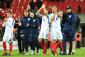 5th October 2017, Wembley Stadium, London, England; FIFA World Cup Qualification, England versus Slovenia; Harry Kane, the England captain and team mates celebrate qualifying for the world cup