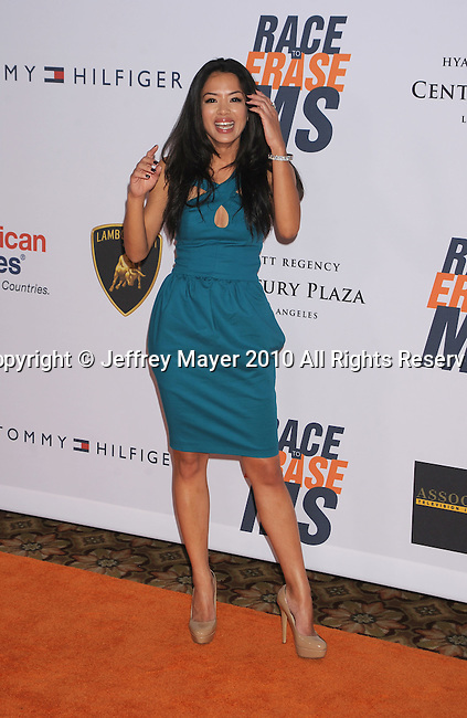 CENTURY CITY, CA. - May 07: Stephanie Jacobsen arrives to the 17th Annual Race To Erase MS held at Hyatt Regency Century Plaza on May 7, 2010 in Century City, California.