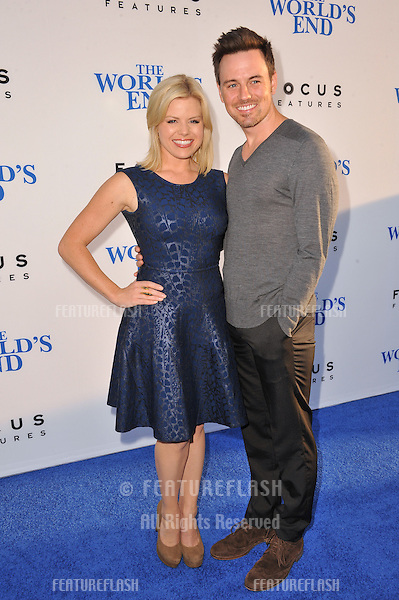 Megan Hilty &amp; Brian Gallagher at the Los Angeles premiere of &quot;The World's End&quot; at the Cinerama Dome, Hollywood.<br /> August 21, 2013  Los Angeles, CA<br /> Picture: Paul Smith / Featureflash
