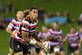 Nigel Ah Wong. Mitre 10 Cup game between Counties Manukau Steelers and Tasman Mako's, played at ECOLight Stadium Pukekohe on Saturday October 14th 2017. Counties Manukau won the game 52 - 30 after trailing 22 - 19 at halftime. <br /> Photo by Richard Spranger.