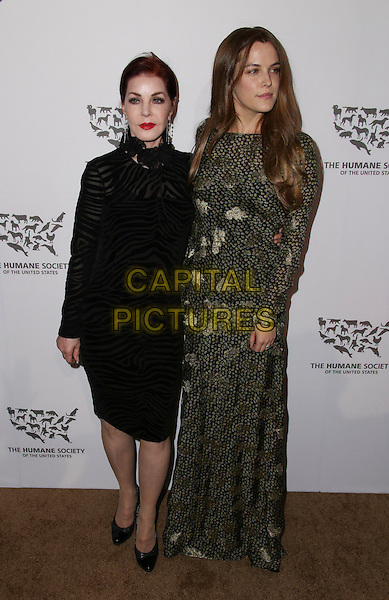 HOLLYWOOD, CA - MAY 07: Priscilla Presley, Riley Keough attends The Humane Society of the United States' to the Rescue Gala at Paramount Studios on May 7, 2016 in Hollywood, California.  <br /> CAP/MPI/PA<br /> &copy;PA/MPI/Capital Pictures