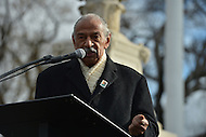 February 27, 2013  (Washington, DC)  Congressman John Conyers speaks at voting rights rally in front of the U.S. Supreme Court. The Court heard arguments regarding the constitutionality of Section 5 of the Voting Rights Act.   (Photo by Don Baxter/Media Images International)